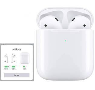 Навушники Apl AirPods Бездротова bluetooth гарнітура для Iphone Сенсорні аирподс Люкс копія 1в1 з кейсом