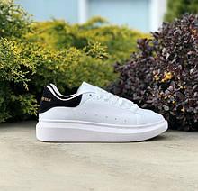 Чоловічі білі шкіряні кросівки Alexander McQueen