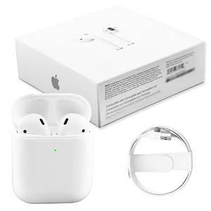 Навушники Apl AirPods 2, Бездротові bluetooth (блютуз) навушники для Iphone (Люкс копія 1в1) з кейсом, Білі