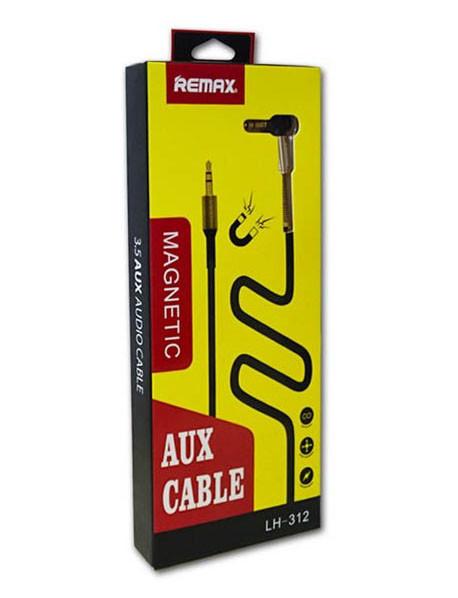 Аудіо кабель AUX Remax AUX-Jack (3,5 mm), 1 метр шнур аукс, кабель для автомагнітоли, чорний