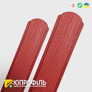 Штакетник металлический RAL 3011 красный 0.45 Матовый односторонний, фото 2