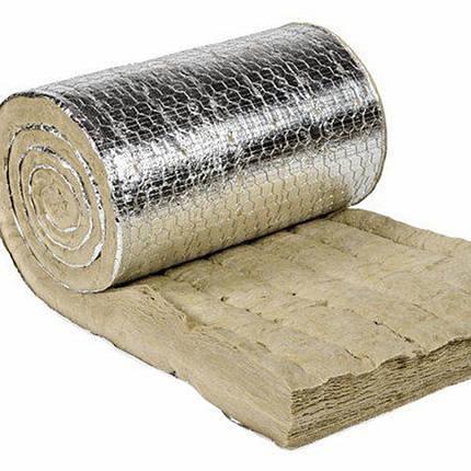 Армированный прошивной мат из каменной ваты с ал.покрытием PAROC Wired Mat AluCoat, фото 2