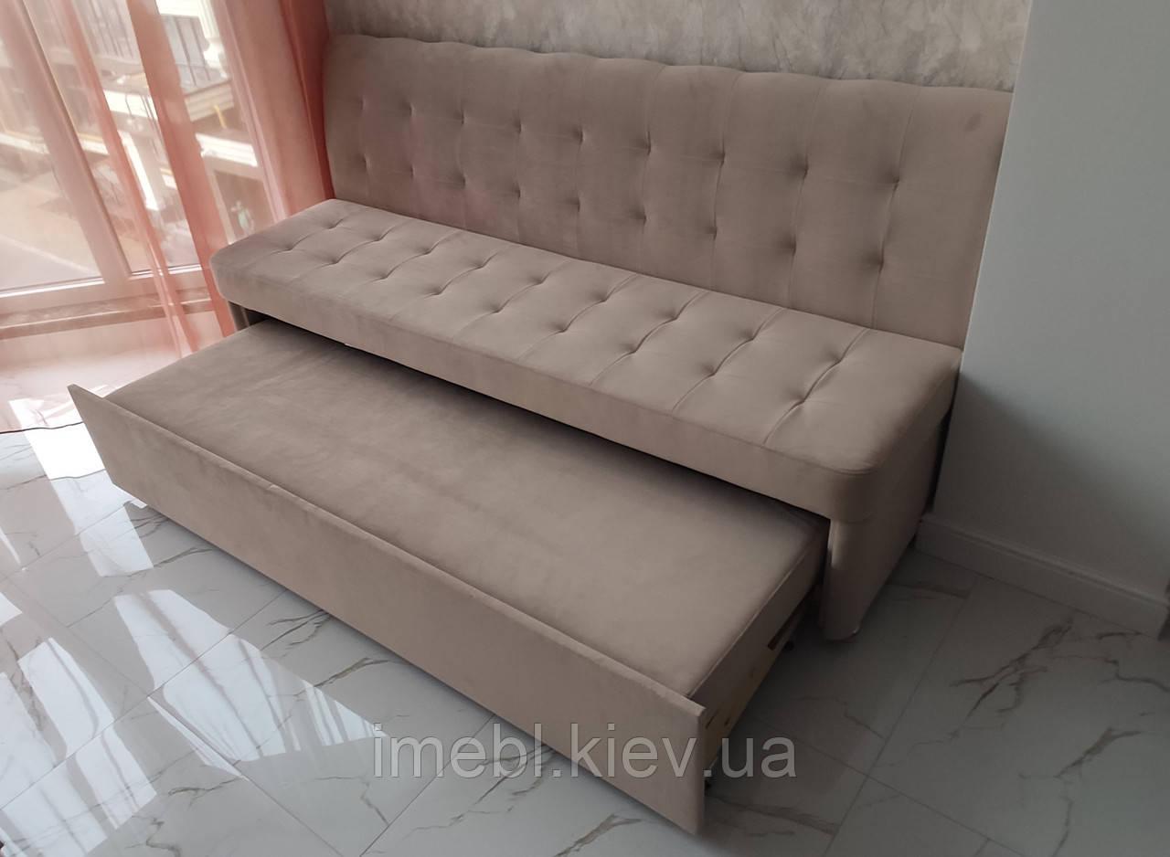 Розкладний диван для вузької кухні (Какао)