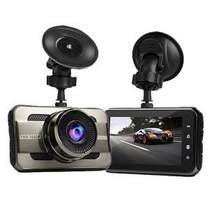 Автомобільний відеореєстратор Full HD T669 DVR для авто Реєстратор машину з монітором записом HDMI 1080p