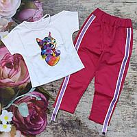 Бриджі та футболка для дівчинки (128р)