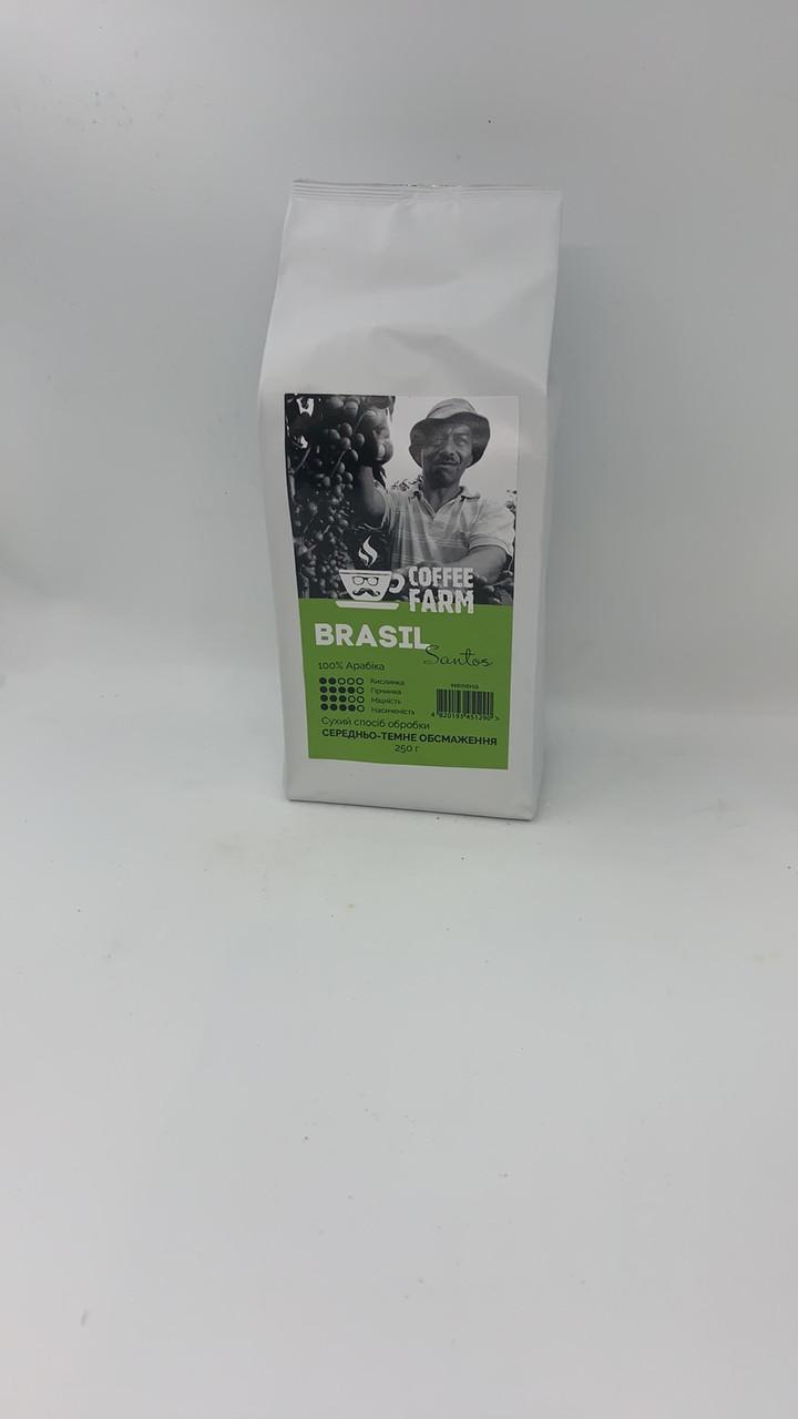 Кава мелена Бразилія 250г Сантос ТМ Coffee Farm