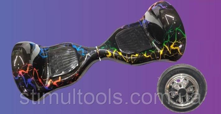 """Гироскутер EL-5-МП 10"""" Цветная Молния (Алюминиевые колеса с подсветкой)"""