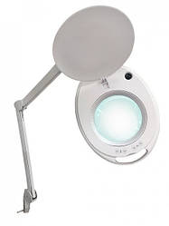 Лампа лупа з підсвічуванням (холодний/теплий світло) Led 6027К (3D12W) для косметолога, для нарощування вій