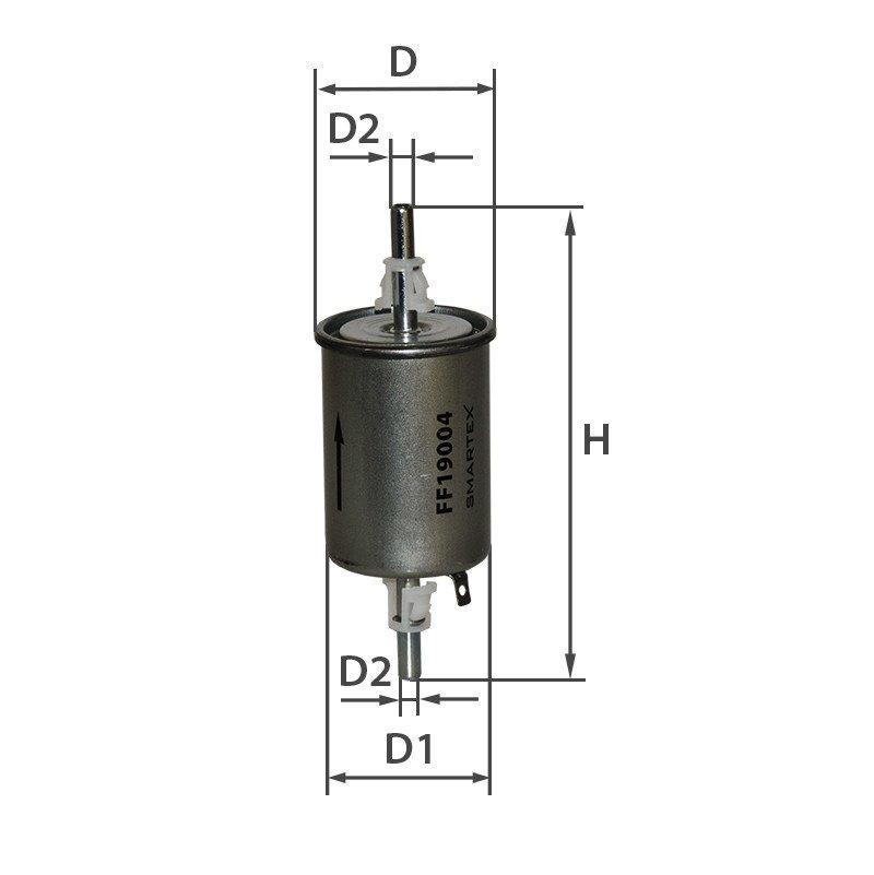 Паливний фільтр Daewoo Nubira Smartex FF19004 аналог Mann WK 55/3, Mahle KL 573