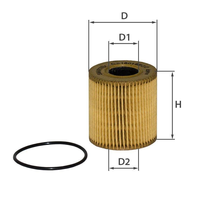 Масляний фільтр Citroen Berlingo Smartex OE18019ECO аналог Mann HU 711/51 x, Mahle OX 339/2D ECO