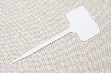Табличка для растений на ножке EB №3 - белая 5,5 см x 3,5 см, ножка 11,5 см