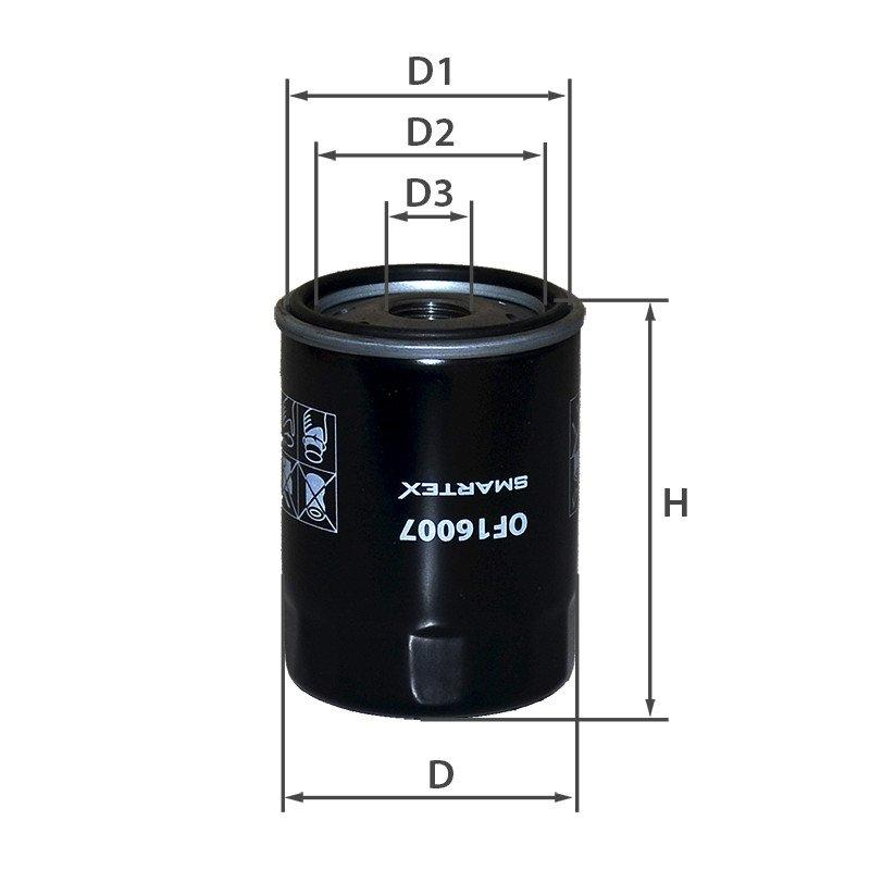 Масляний фільтр Toyota Celica Smartex OF16007 аналог Mann W 610/9, Mahle OC 217