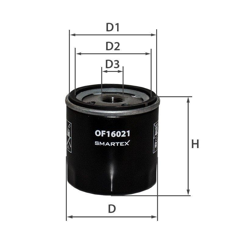 Масляний фільтр Opel Zafira Smartex OF16021 аналог Mann W 712/75, Mahle OC 405/3