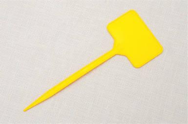 Табличка для растений на ножке EB №3 - желтая 5,5 см x 3,5 см, ножка 11,5 см