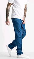 Джинсы мужские котоновые синие (размер 32, 34, 36)