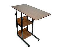 Прикроватный столик на колесиках для ноутбука модель В22 , маленький журнальний столик столик на колесах