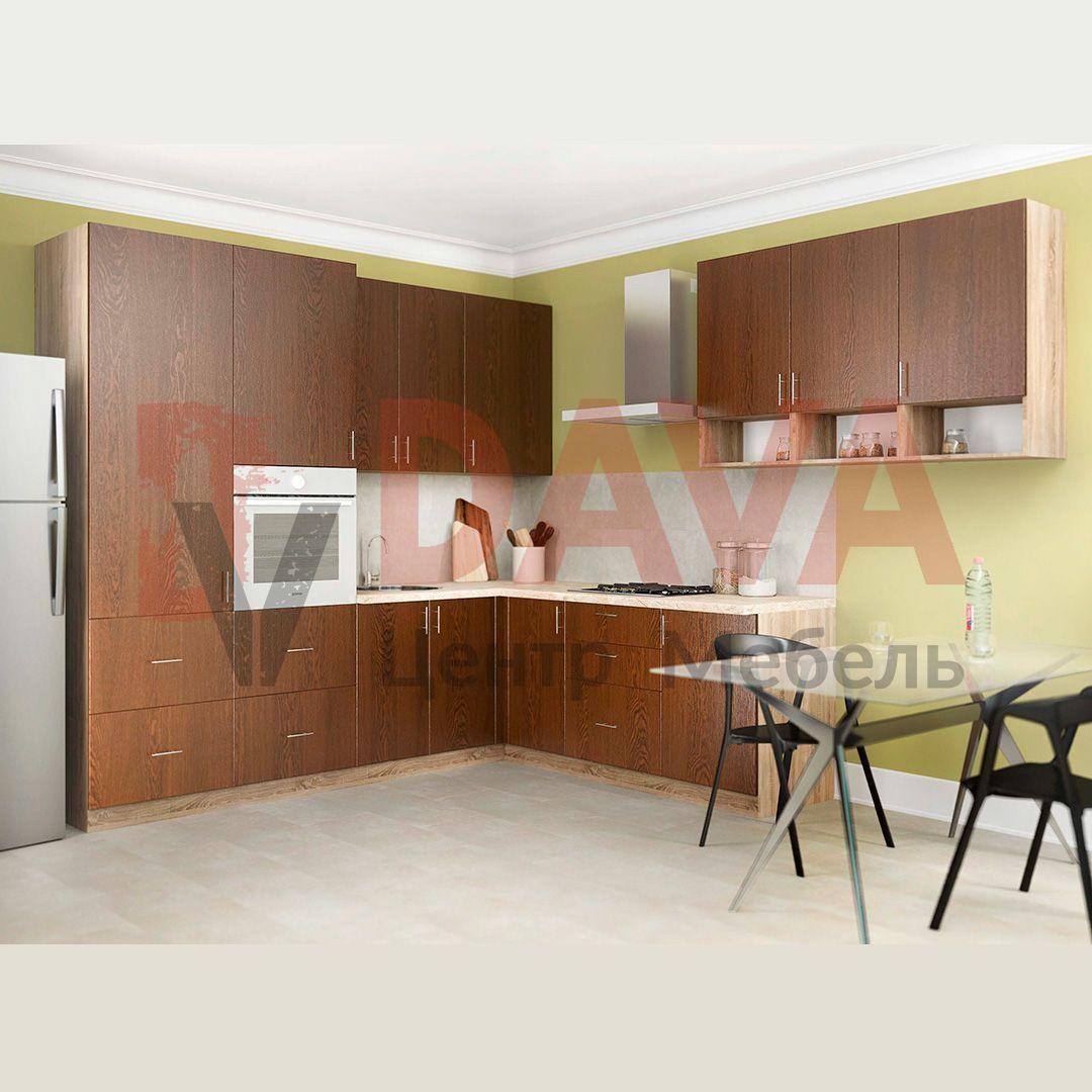 Кухня с фасадами шпонированными натуральным деревом. Набор 41