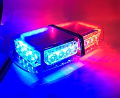 Проблисковий маячок світлова панель LED - червоно-синій LED .Проблисковий маячок на дах авто 12V
