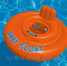 Дитячий надувний круг плотик Intex 56588 Baby Float (76 см) Інтекс, фото 3