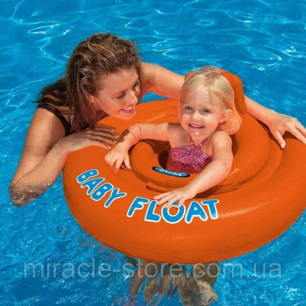 Дитячий надувний круг плотик Intex 56588 Baby Float (76 см) Інтекс