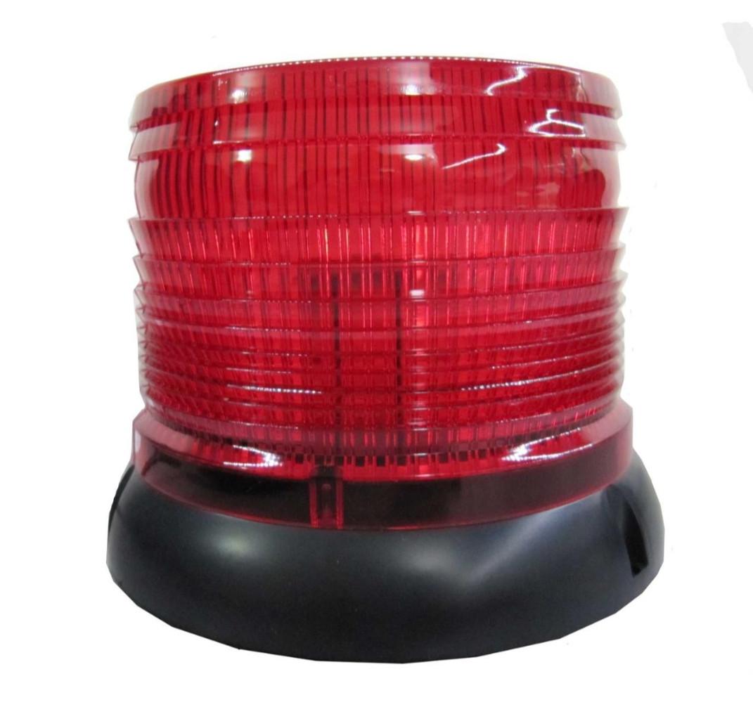 Проблесковый сигнальный маячок красный  LED .колпак  .Проблесковый маячок на крышу авто -12V