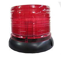 Проблисковий сигнальний маячок червоний LED .ковпак .Проблисковий маячок на дах авто -12V
