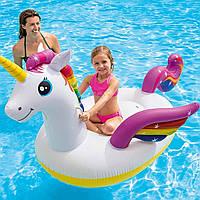 Надувной плотик для катания Intex 57561 Единорог, 198 х 140 х 97 см Надувной круг для детей и взрослых