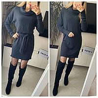 Женское стильное теплое платье с длинным рукавом Норма, фото 1