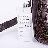 Коричнева жіноча маленька сумочка через плече крос-боді, фото 8