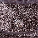 Коричнева жіноча маленька сумочка через плече крос-боді, фото 7
