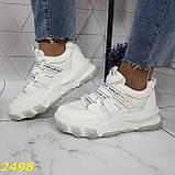 Кросівки білі на масивної тракторній підошві на гумках і липучках 37, 38, 39, 40 р. (2498), фото 4