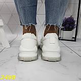 Кросівки білі на масивної тракторній підошві на гумках і липучках 37, 38, 39, 40 р. (2498), фото 2