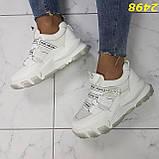 Кросівки білі на масивної тракторній підошві на гумках і липучках 37, 38, 39, 40 р. (2498), фото 7
