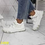 Кросівки білі на масивної тракторній підошві на гумках і липучках 37, 38, 39, 40 р. (2498), фото 6