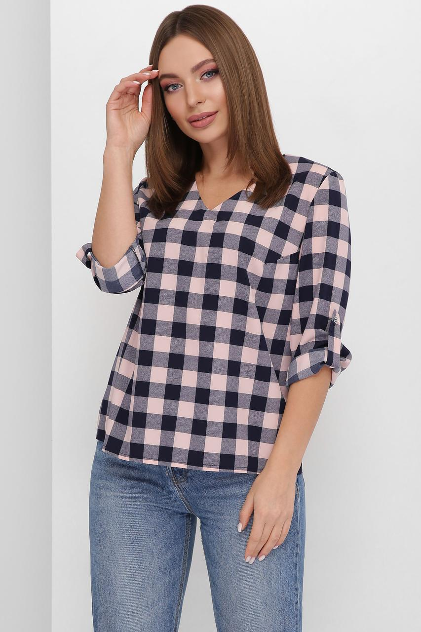 Блуза женская, цвет: пудровый, размер: 42, 46, 48, 50, 52