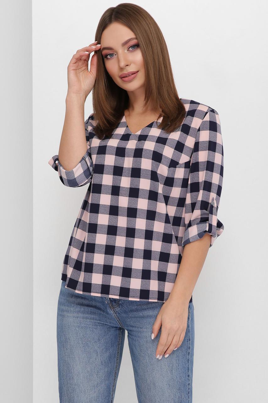 Блуза жіноча, колір: пудровий, розмір: 42, 46, 48, 50, 52