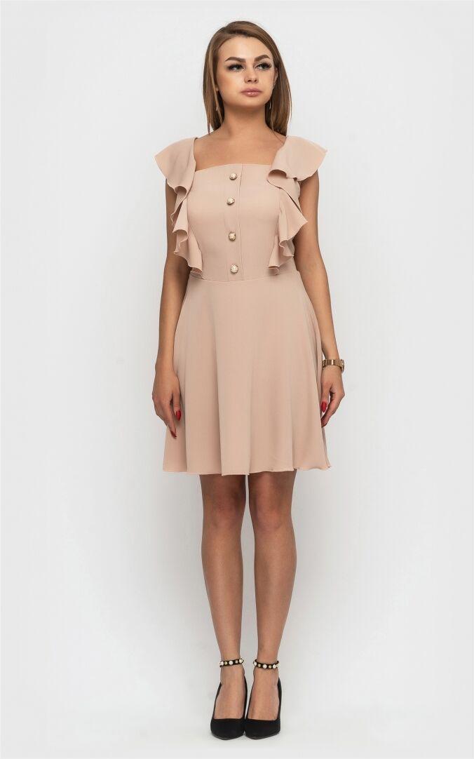 Літня жіноча сукня 2021 модна красива  колір: бежевий, розмір: L, M, S