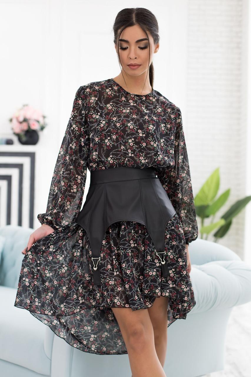 Літня жіноча сукня 2021 модна красива  колір: чорний, розмір: 42-44, 46-48