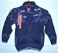 Теплый кардиган для мальчика 3-6 лет Altunlar синий - 100-353