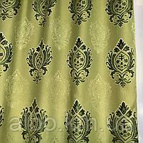 Вишукані штори лляні 150x270 cm (2 шт) ALBO Зелені (SH-M11-4), фото 7
