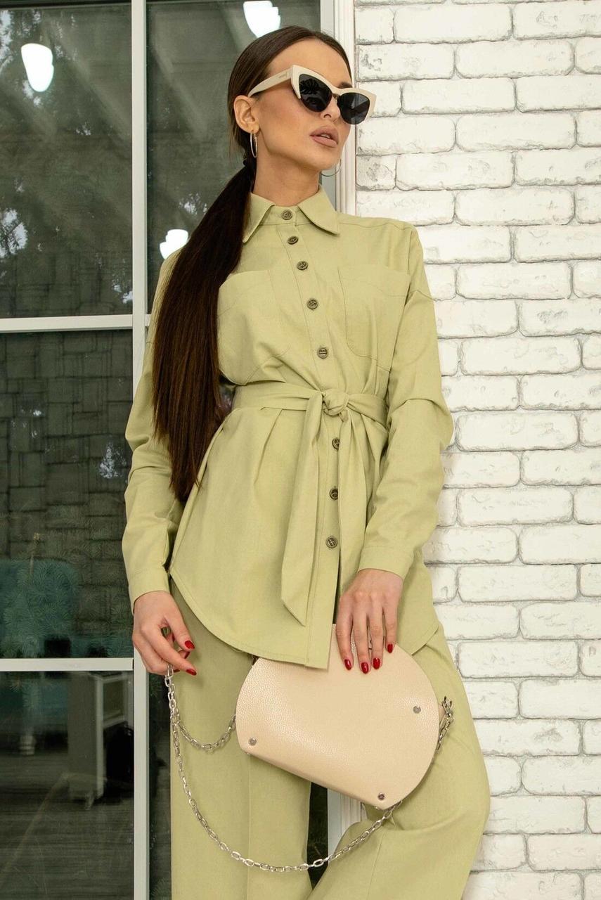 Сорочка жіноча, колір: фісташка, розмір: 42, 44, 46, 48, 50, 52