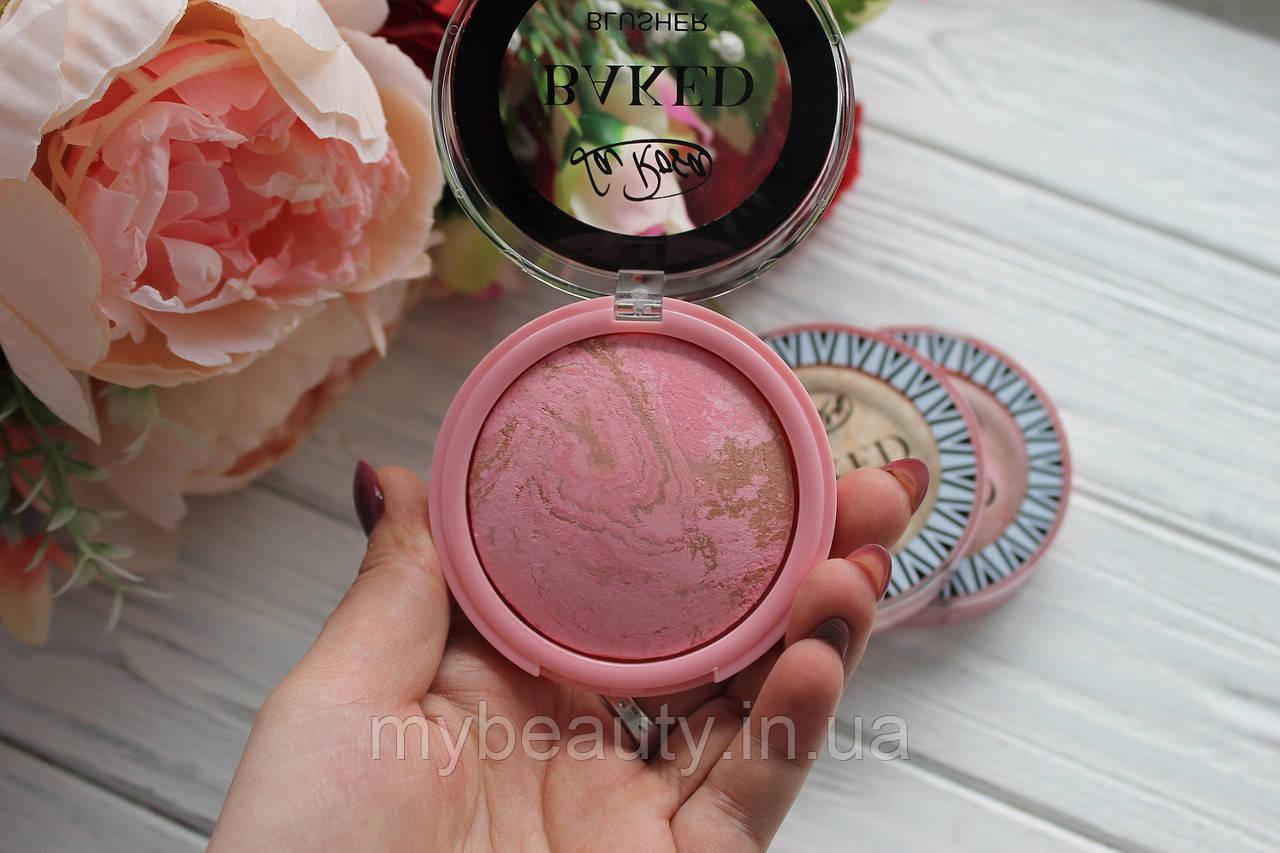 Рум'яна для обличчя LA ROSA BAKED BLUSHER одинарні запечені матові теракотові 805-BL № 03 Рожеві