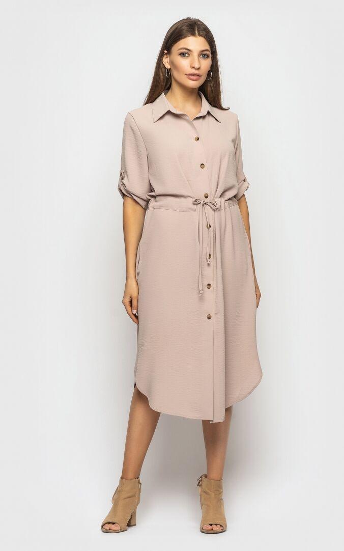 Платье женское, цвет: бежевый, размер: L, M, S