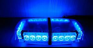 Проблисковий маячок світлова панель LED - синій LED .Проблисковий маячок на дах авто 12-24V