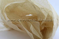 Бумага тишью кофе с молоком, 100 листов, 50 на 75 см