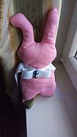 Декоративний підхоплення для штор рожевий заєць 32 см