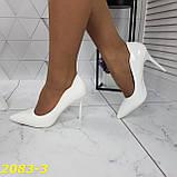 Класичні туфлі білі на невисокому каблуці 36, 38, 39 р. (2083-3), фото 6