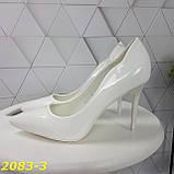 Класичні туфлі білі на невисокому каблуці 36, 38, 39 р. (2083-3), фото 3