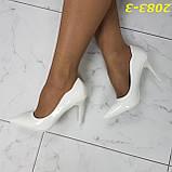 Класичні туфлі білі на невисокому каблуці 36, 38, 39 р. (2083-3), фото 7
