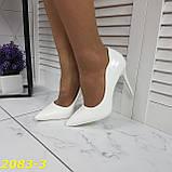 Класичні туфлі білі на невисокому каблуці 36, 38, 39 р. (2083-3), фото 5
